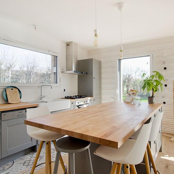 cuisine dans maison bois