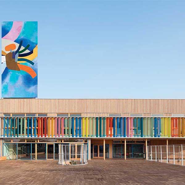 Le groupe scolaire bois Pasteur, dans le 93 © R2K / Holzbau Amann / Gaujardtechnologie scop