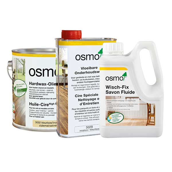 Sols en bois traités un produit pour entretenir et nettoyer © Osmo