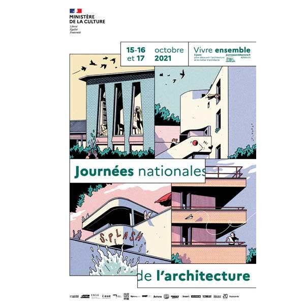 L'affiche des journées nationales de l'architecture 2021