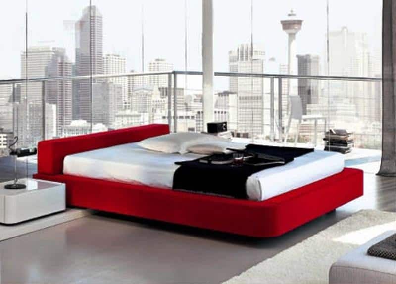 Red White Chinese Bedroom Design Architecture Decorating