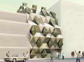 Mosaic Architecture Plan for Student _a503Housing 3D Architecture