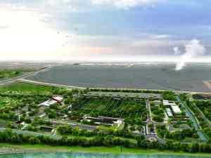 Mud Volcano Research Center at Sidoarjo-Bird eye view