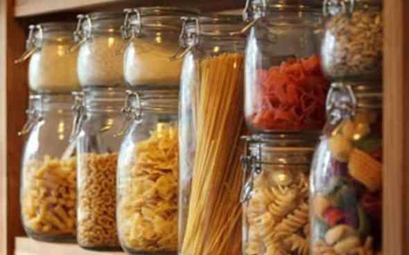 Detail of kitchen pantry