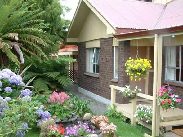 Flower garden on the terrace