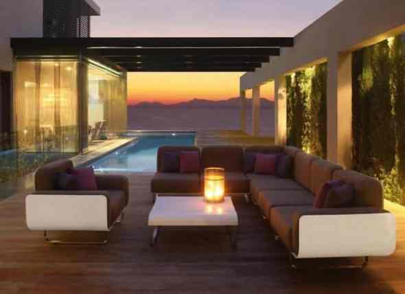 Outdoor Sectional Brown Sofa Furniture