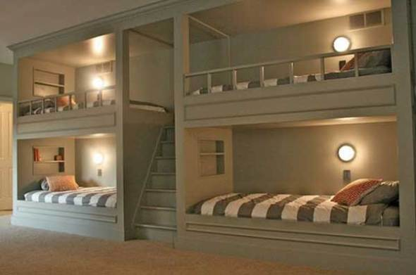 kid's bunk beds with jail theme