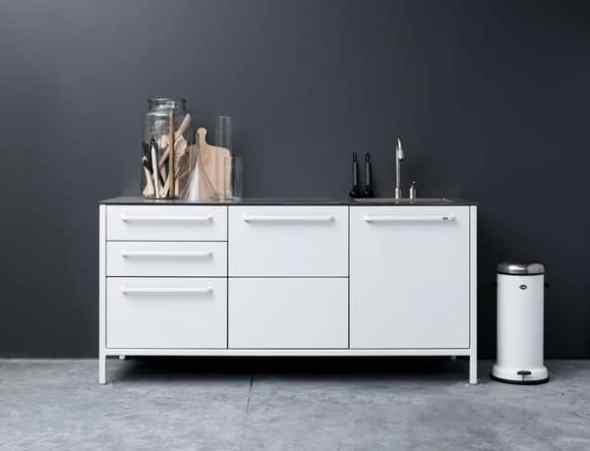 White Vipp Kitchen cupboard