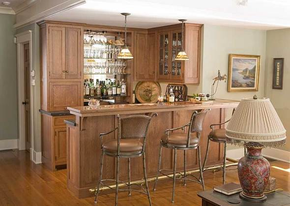 elegant home bar