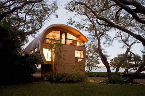 hammock guest house in the evening