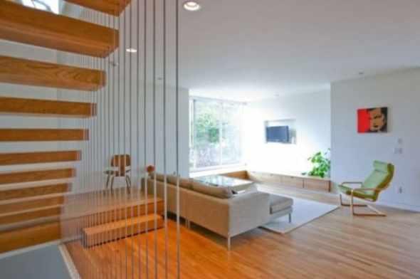 Living room design of box house