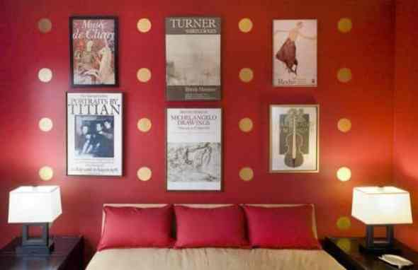 Music themes of bedroom wall art