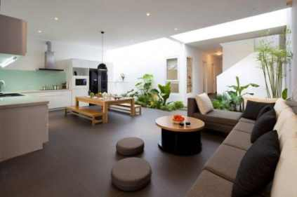 Kitchen Living room With Dining Space Between - Sophisticated Modern Penthouse Design
