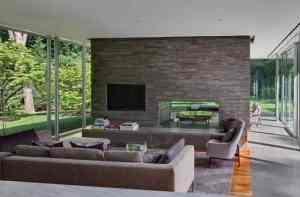 rectangular glass house interior design inspiration by Ohlhausen BuBois Architects