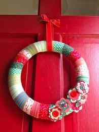 Red Christmas Wreath - Front Door Area