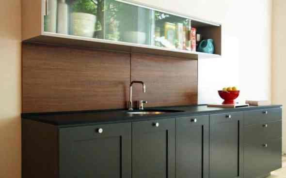 Wooden Backsplash Kitchen Countertops