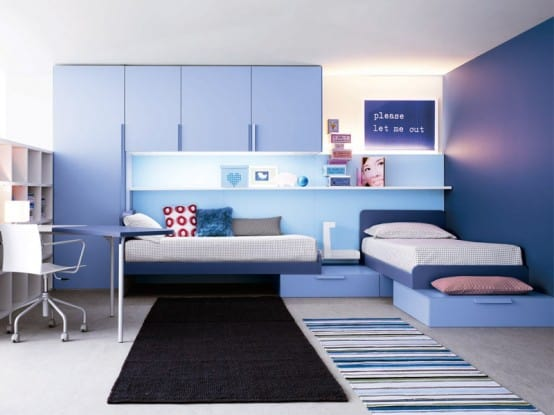 Awesome Impressive Blue teens Room