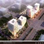 mixed-use twin tower complexes in Datong by Plasma studio