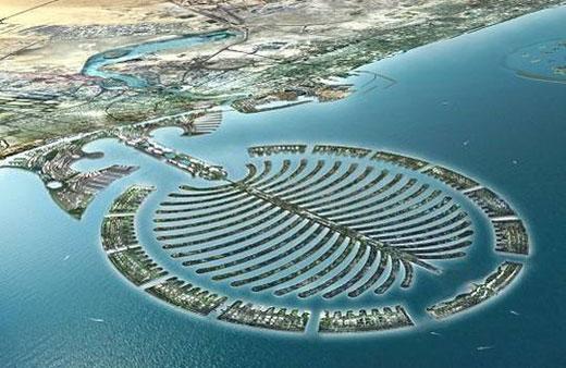 The Palm Islands in Dubai