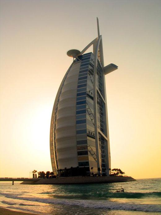 The Burj al-Arab hotel in Dubai