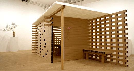Paper tea house