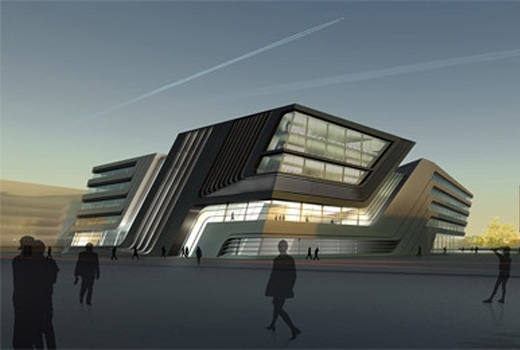 Library and Learning Center in Vienna by Zaha Hadid