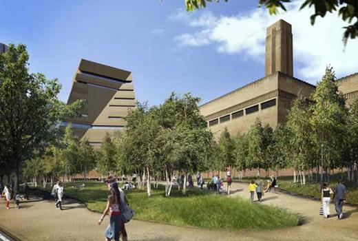 Tate Modern extension by Herzog  de Meuron