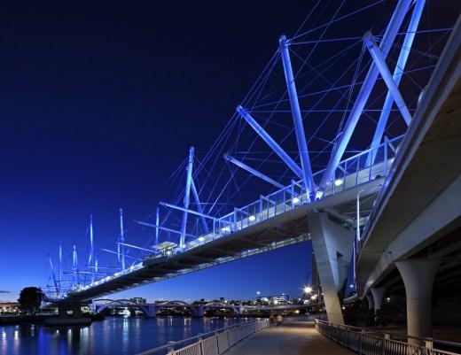 Kurilpa Bridge, Australia, designed by Cox Architecture