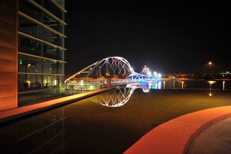 Tempe Town Lake Pedestrian Bridge in Tempe, AZ