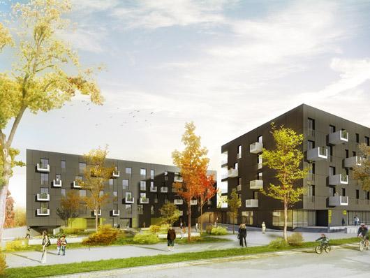 Quartier du Grünewaldֺ Residential Estate, Luxembourg / AllesWirdGut Architects