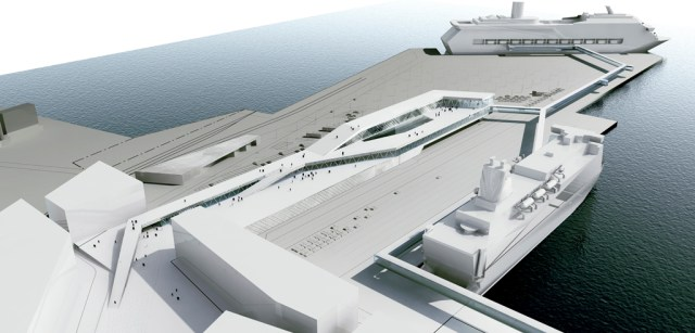 new ferry terminal in Stockholm