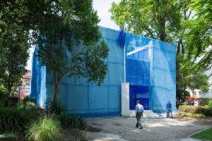 Nederlands Paviljoen in het blauw