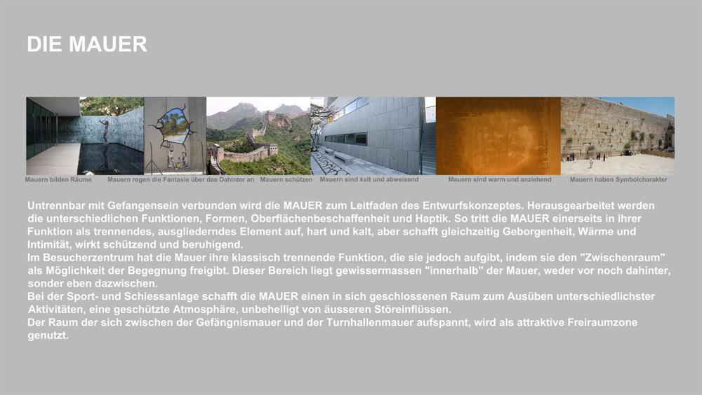 Besucherzentrum Justizanstalt Karlau - Besucherzentrum Gesamtkonzept