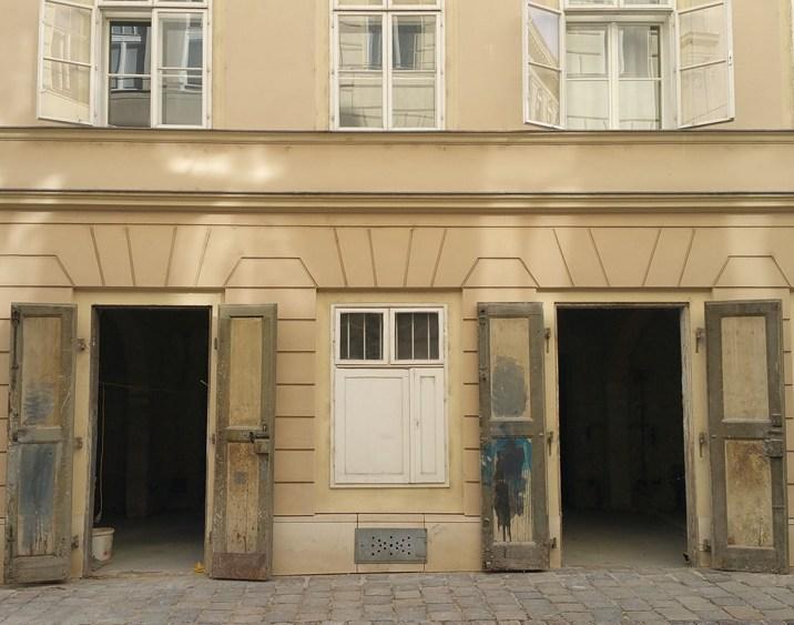 Biedermeierhaus Joanelligasse - Aussenansicht Baustelle