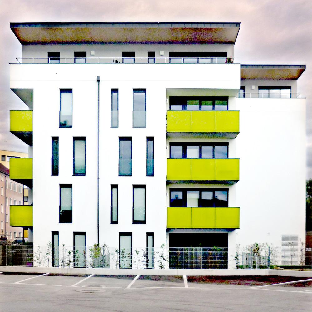 Wohnhausanlage Tulln - Bauteil 2 Ostfassade