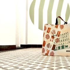 Siebdrucktaschen - Shopper Julius-Tandler-Platz Panorama