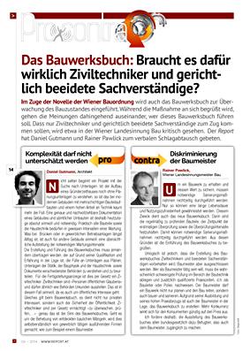 Daniel Gutmann - Artikel in Bau- und Immobilien Report