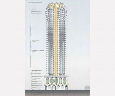 La torre fallica, dalla quale verranno bruciati milioni di omosessuali italiani