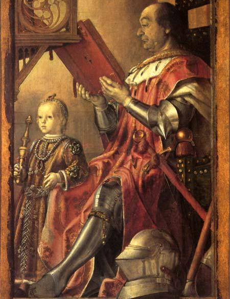 Federico Montefieltro y su hijo. Pedro Perruguete. Etapa italiana.