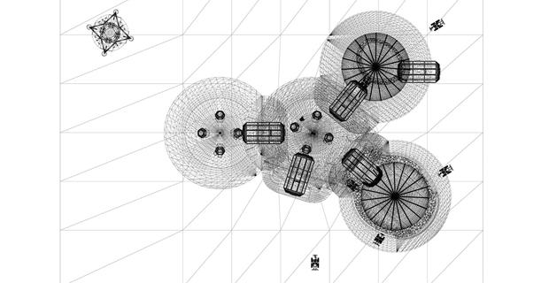 Le cupole del villaggio Lunar Habitation stampato in 3D