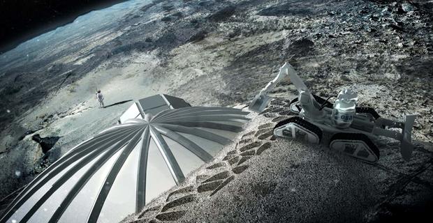 Il villaggio lunare di Foster realizzato con la stampa 3D