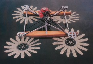 Hydrocopter out of the water