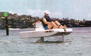 Prototype One-Person Hydrofoil with Outboard Motor