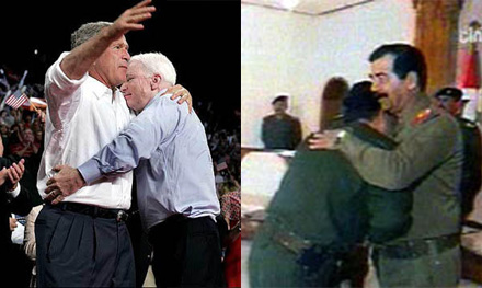 Armpit Kisses for Bush and Saddam