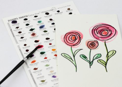 66 WC Dot Chart, Flower Coloring Book, 8258, 1
