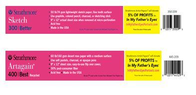 Pink pad shelf labels