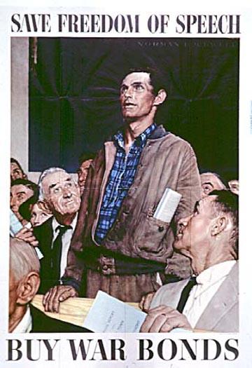 Poster Save Freedom of Speech--Buy War Bonds
