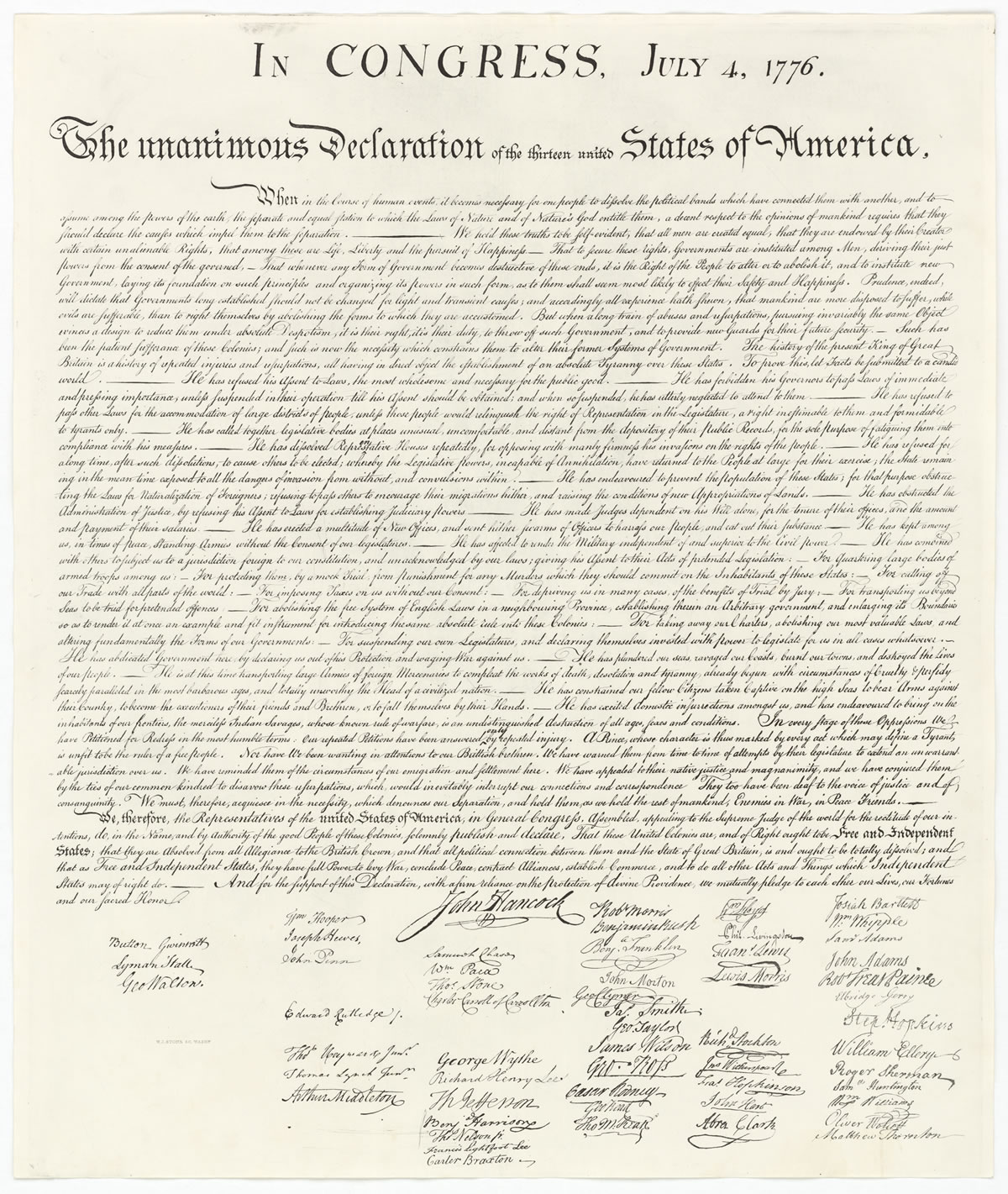 Remarkable Printable Copy Of The Declaration Of