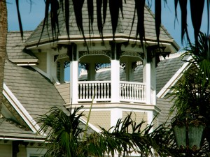 Gable of Mansion on Grand Cayman