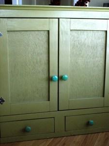 Green Bathroom Cupboard